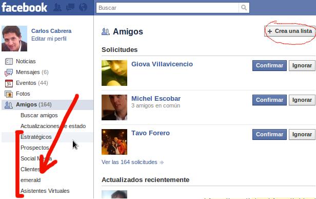 Listas Amigos Facebook