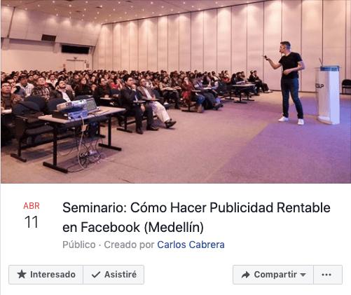 evento en facebook: cómo hacer publicidad rentable - carlos cabrera
